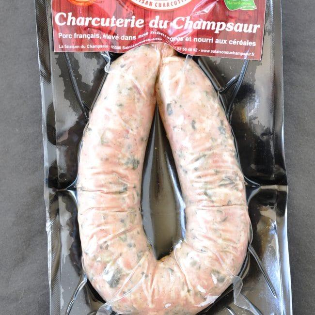 Saucisse au chou Salaison du Champsaur Saint Laurent du Cros Hautes Alpes Charcuterie Artisanale en ligne