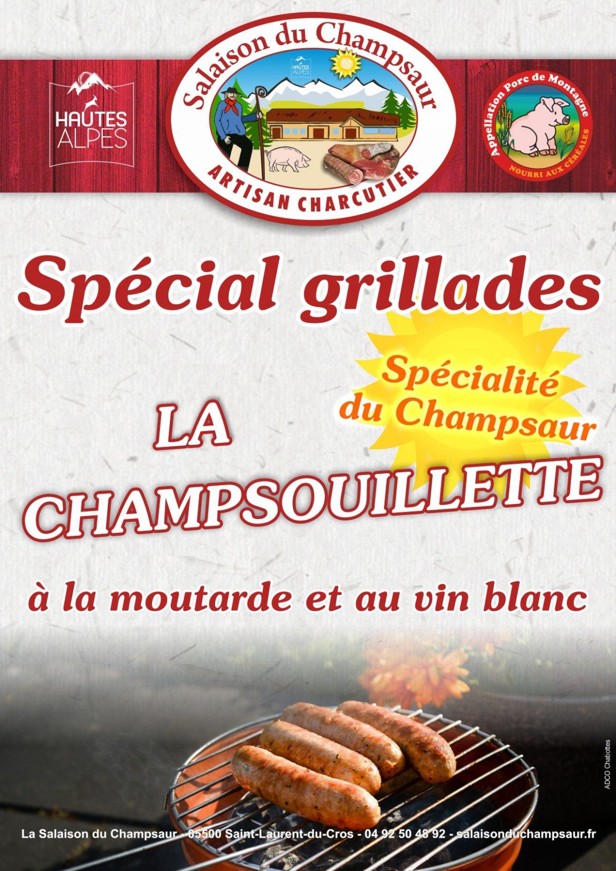 Affiche Champsouillette Salaison du Champsaur Saint Laurent du Cros Hautes Alpes Charcuterie Artisanale en ligne