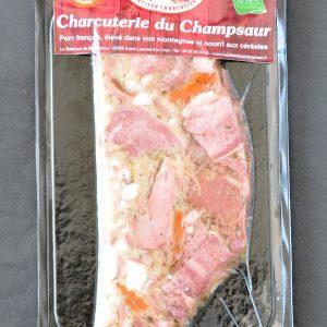 Fromage de tête en tranche Salaison du Champsaur Saint Laurent du Cros Hautes Alpes Charcuterie Artisanale en ligne