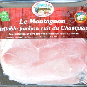 Jambon cuit en tranches Salaison du Champsaur Saint Laurent du Cros Hautes Alpes Charcuterie Artisanale en ligne