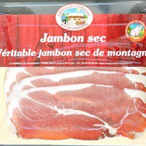 Jambon sec en tranches Salaison du Champsaur Saint Laurent du Cros Hautes Alpes Charcuterie Artisanale en ligne
