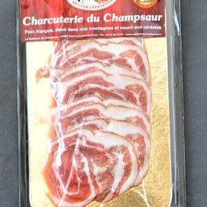 Poitrine roulée en tranches Salaison du Champsaur Saint Laurent du Cros Hautes Alpes Charcuterie Artisanale en ligne