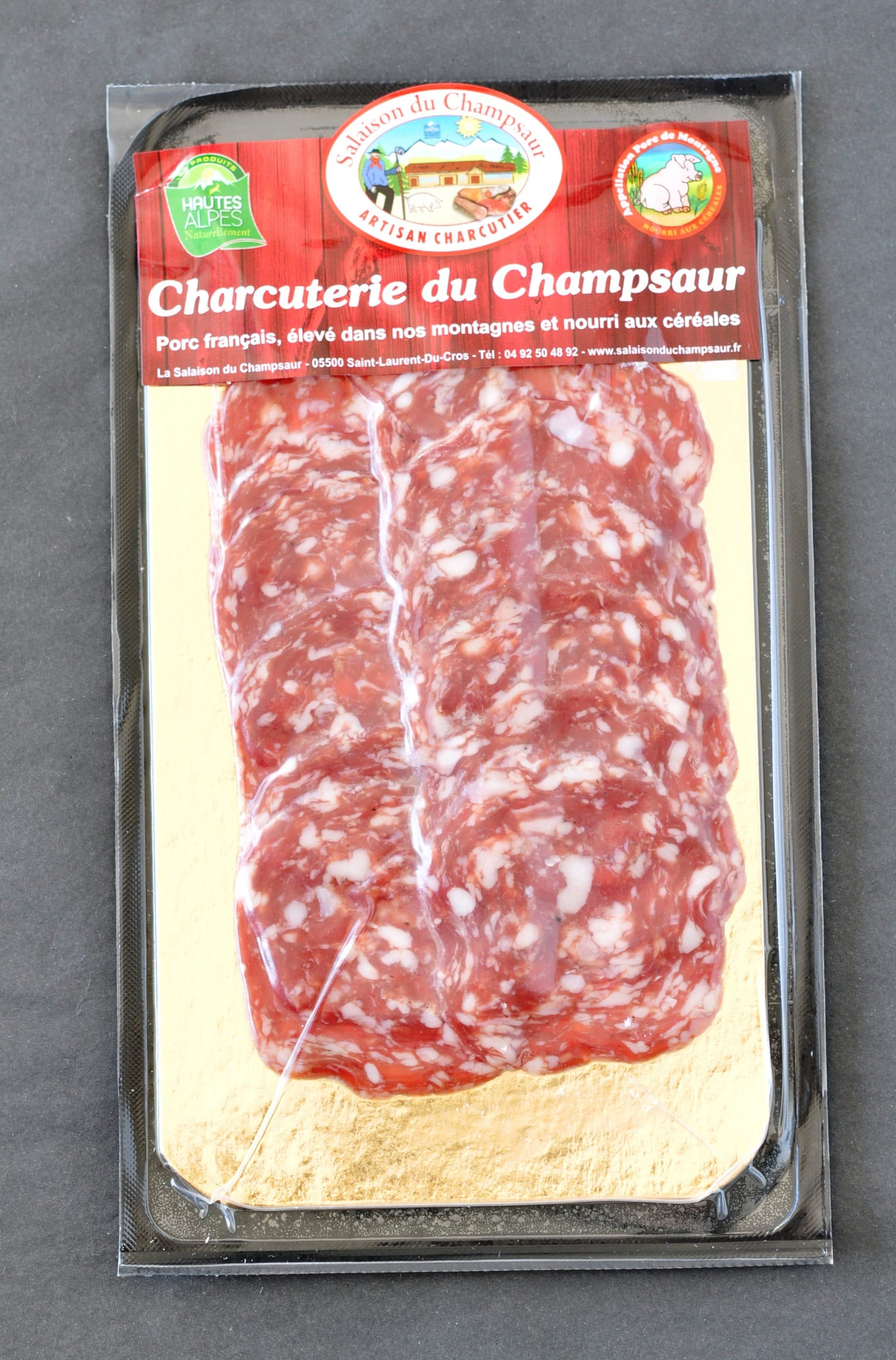 Rosette en tranches Salaison du Champsaur Saint Laurent du Cros Hautes Alpes Charcuterie Artisanale en ligne