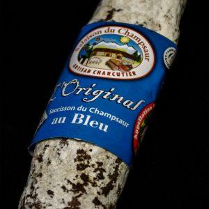 Saucisson au bleu des Alpes L'original Salaison du Champsaur Saint Laurent du Cros Hautes Alpes Charcuterie Artisanale en ligne